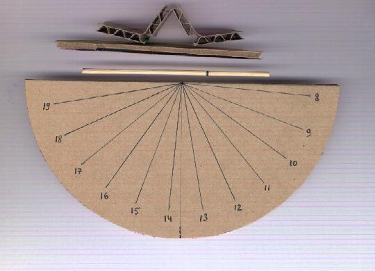 fabrication d un cadran solaire